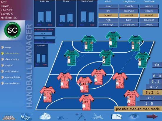 Screenshot of Handball Manager